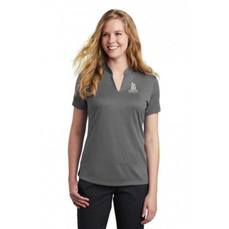 Nike Ladies Dri-FIT Hex Textured V-Neck Top
